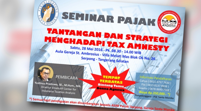 Seminar Pajak dari PSE St. Monika